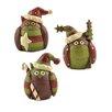 Blossom Bucket 3 Piece Owls with Candy/Star/Tree Figurine Set