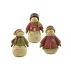 Blossom Bucket 3 Piece Snowmen with Sweaters and Hats Figurine Set
