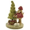 "Blossom Bucket ""We Woof You"" Dog with Tree and Lights Figurine"
