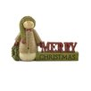 "Blossom Bucket ""Merry Christmas"" with Snowman Figurine"