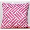 Auburn Textile Cross Stripes Cotton Throw Pillow