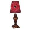 "Illuminada Gerber Daisy Decorative Accent 12"" H Table Lamp with Empire Shade"