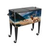 Sainty International King of the Valley 80 Qt. Rolling Patio Cooler