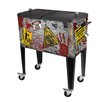 Sainty International Zombie 60 Qt. Rolling Patio Cooler