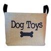 """asouthernbucket """"Dog Toys"""" Burlap Storage Basket"""