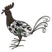 La Hacienda Steel Strutting Rooster Figurine
