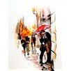 <strong>Evive Designs</strong> Kiss, Love, Romance in Paris by Lana's Art Gallery Painting Print