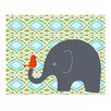 <strong>Evive Designs</strong> Elephant with Bird Paper Print
