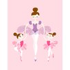 <strong>Evive Designs</strong> Ballerina and Twins Paper Print