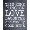 Evive Designs Good Wine by Susan Newberry Textual Art in Chalkboard