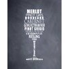 Evive Designs Wine Glass by Susan Newberry Textual Art on Fine Art Paper