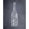 Evive Designs Wine Bottle by Susan Newberry Textual Art