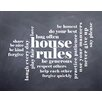 Evive Designs 'House Rules' by Susan Newberry Textual Art in Black and White