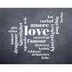 Evive Designs 'Love' by Susan Newberry Textual Art in Black and White