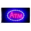 """<strong>DSD Group</strong> 10"""" x 19"""" Animated Motion LED Neon Light ATM Sign"""