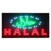 "DSD Group 12"" x 23"" Animated LED Halal Sign"