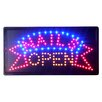 "<strong>DSD Group</strong> 10"" x 19"" Animated Motion LED Neon Light Nails Open Sign"