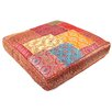 <strong>Patchwork Sari Brocade Square Pillow</strong> by Found Object