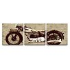 <strong>Artefx Decor</strong> Motorcycle Triptych 3 Piece Graphic Art on Canvas Set