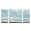 Artefx Decor Shoreline View Textured Triptych 3 Piece Painting Print on Canvas Set
