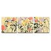 Artefx Decor Garden Social Textured Triptych 3 Piece Painting Print on Canvas Set