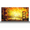 Artefx Decor Golden Gate Glow Painting Print on Canvas