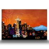Artefx Decor Seattle City Lights Graphic Art on Canvas