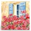 Artefx Decor Paris Window Painting Print on Canvas