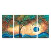 Artefx Decor Summer Blooms Textured Triptych 3 Piece Painting Print on Canvas Set