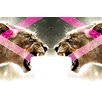 """<strong>""""Dual Lions"""" Graphic Art on Canvas</strong> by Salty & Sweet"""