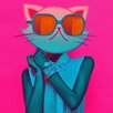 """<strong>""""Kool Kitty"""" Graphic Art on Canvas</strong> by Salty & Sweet"""