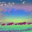 "Salty & Sweet ""Painted Elephants"" Canvas Art"