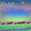 "Salty & Sweet ""Painted Elephants"" Graphic Art on Canvas"