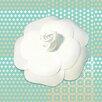 "Salty & Sweet ""Powder Flower White"" Graphic Art on Canvas"