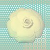 "Salty & Sweet ""Powder Flower Cream"" Graphic Art on Canvas"