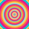 """Salty & Sweet """"Psychedelic Swirl"""" Graphic Art on Canvas"""