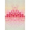 "Fluorescent Palace ""Chrystal Light Red"" Canvas Art"