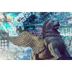 "Fluorescent Palace ""Lion Fly Graffiti"" Canvas Art"