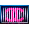 "Fluorescent Palace ""Coco Loves U"" Canvas Art"