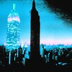 "Fluorescent Palace ""I Am New York Blue"" Canvas Art"