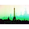 "Fluorescent Palace ""Summer In Paris Green"" Canvas Art"