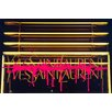 """Fluorescent Palace """"Why SL Neon Drip Pink"""" Canvas Art"""