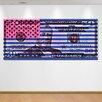 "Crush Collective ""Stars Vs. Stripes Blue"" Canvas Art"