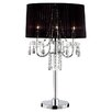 "ORE Furniture Crystal Drop 27.5"" H Table Lamp with Drum Shade"