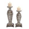 ORE Furniture Polystone Decorative 2 Piece Candlestick Set