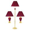 ORE Furniture 3 Piece Lamp Set