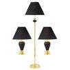 ORE Furniture 3 Piece Lamp Set