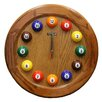 "ORE Furniture Wooden Pool 17"" Wall Clock"