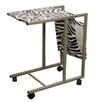 ORE Furniture Zebra Print Laptop Cart
