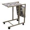 ORE Furniture Zebra Print Laptop Cart